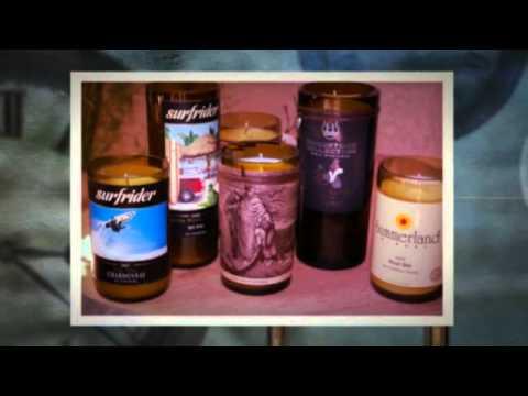 LA Wine Wicks Recycled Wine Bottle Soy Candles 2