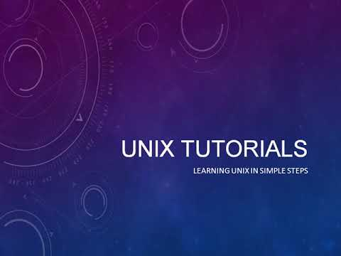 Unix Tutorial Part 6, Introduction to Unix Operating System