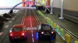 Audi R8 vs Porsche 911 - One Battle - 25 Runden - Carrera Bahn Digital Slot 1:32