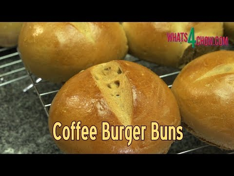 How to Make Coffee Burger Buns - Flavorful, Aromatic Burger Buns with a Difference!