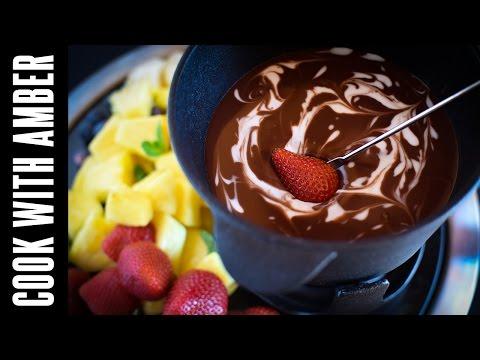 Dark Chocolate Coconut Fondue   Cook With Amber