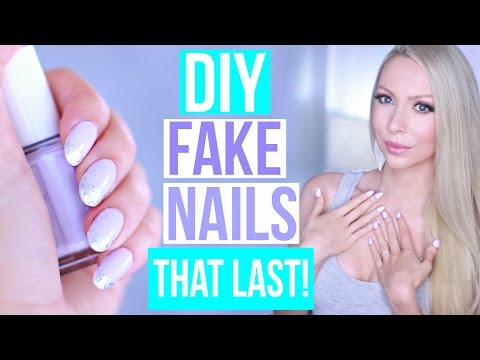 DIY: EASY Fake Nails That Last THREE WEEKS! (No Acrylic)