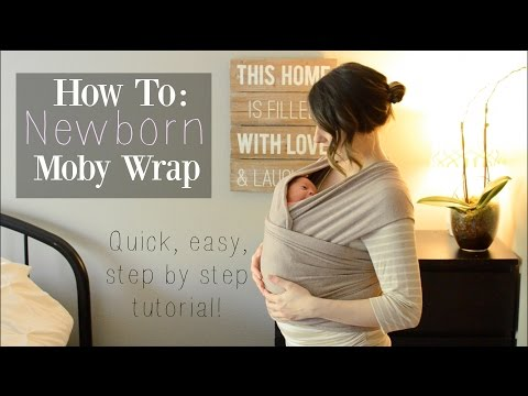How To: Moby Wrap with a Newborn ♡ Newborn Hug Hold - NaturallyThriftyMom