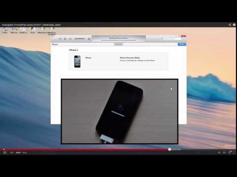 Downgrade ios 7.1.1 a ios 6.1.3 iPhone 4 (NO SHSH) #BlackGeekTutorial