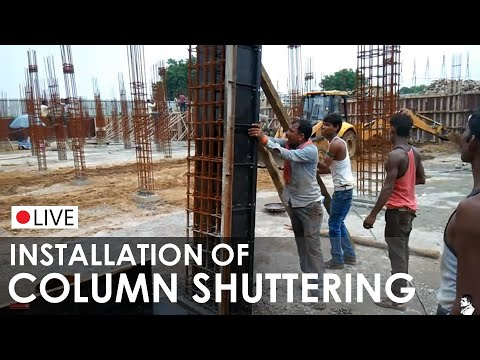 Formwork I Shuttering I column formwork I Concrete Construction I Application on site