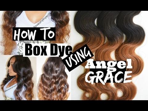 How To Box Dye Hair Auburn Brown w/ Angel Grace Hair   Tutorial