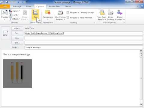 Outlook 2010 Show or Hide the BCC Field in a Message