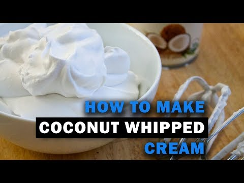 Whipped Cream Substitution Using Coconut Milk