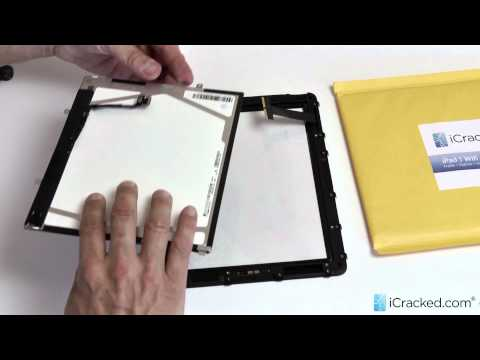 Official iPad 1 (WiFi + 3G) LCD Replacement Video & Instructions - iCracked.com