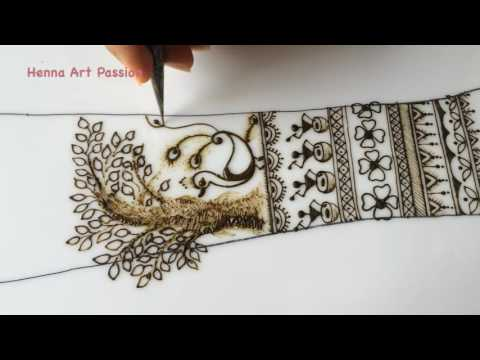 warli art inspired henna mehendi design