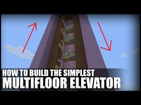 How To Build A Simple Multifloor Elevator in Minecraft (TU46 CU36)