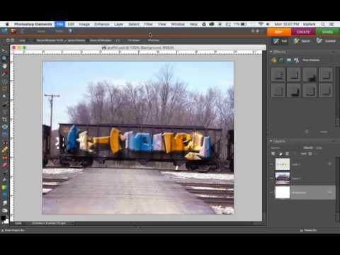 Using Graffiti Fonts in Photoshop Elements