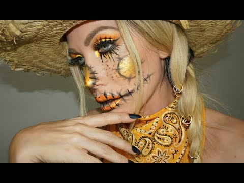 GLAM SCARECROW HALLOWEEN MAKEUP