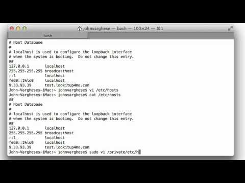 How to easily modify the /etc/hosts file on a Mac