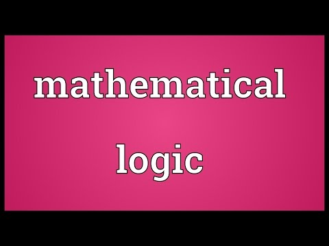 Mathematical logic Meaning