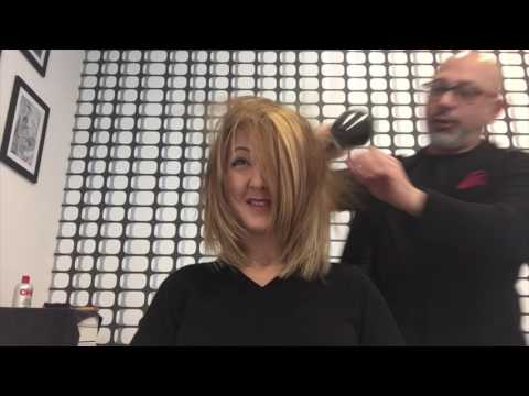 Color change from black to a Jennifer Aniston blond with Loredana