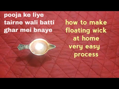 how to make  wick at home|floating wick diy|wick(batti) for festivals |diy candle wicks|koodkala26