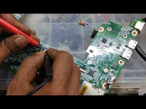 hp mini laptop repair # no power # short cercuit #model-HP Mini 110
