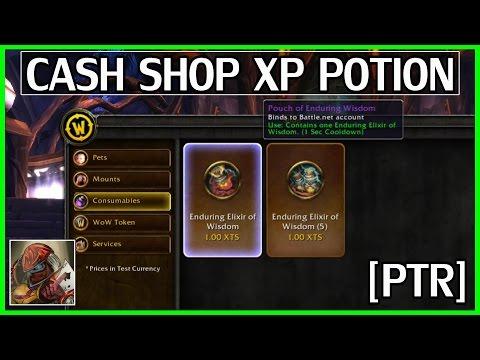 [PTR Only] Cash Shop XP Potions - Good or Bad Idea? WoW Legion