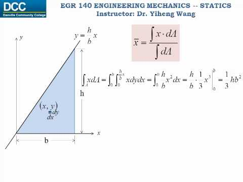 Statics Lecture 30: Centroid of an Area