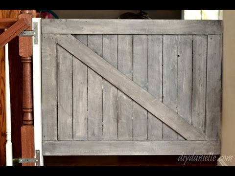 How to Build a Farmhouse Baby Gate