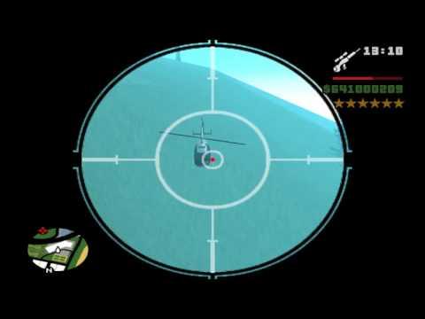 Shoot down helicopter in 1 sniper shot/Gta Sanandreas/Sniper skill
