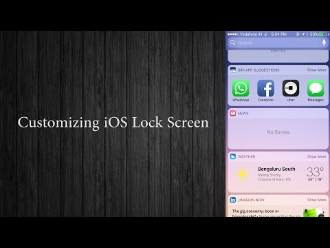 How To Customize your iPhone lock screen   Widget Screen,Notifcation Settings