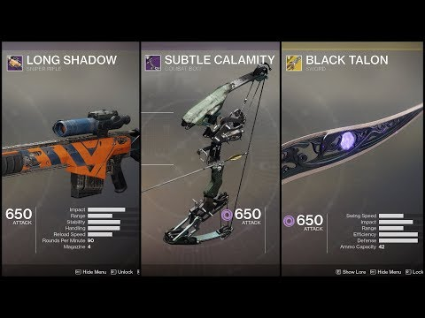 Viewer Loadout: Solo Nightfall w/ Sniper, Bow & Sword