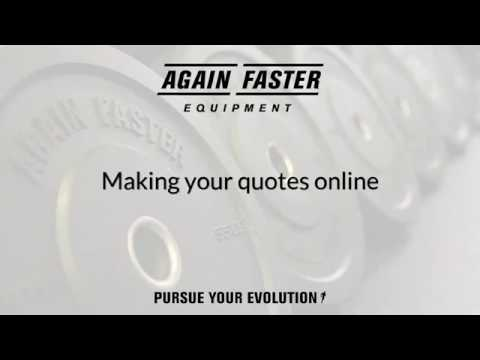 How to make you own quotes on our website | Again Faster Australia / NZ