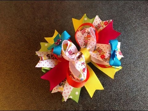 HOW TO: Make a 5 inch stacked boutique hair bow