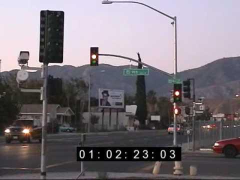 Red Light Camera Uses Short Yellow in San Bernardino, CA