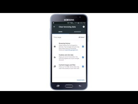 How to clear Chrome cache, cookies, browsing history on Samsung Galaxy J3