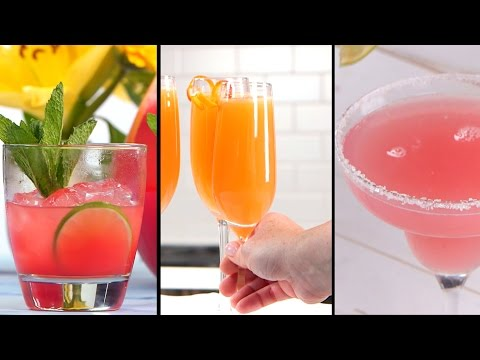 Shower Cocktails for the Bride Whose Signature Colors Are Blush and Bashful
