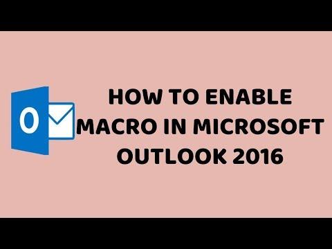 How to Enable Macro in Microsoft Outlook 2016   Turn On Macros in Outlook   Tech Videos In Hindi