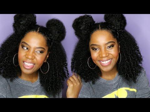 Two Buns Half Up Half Down | Natural Hair | Melissa Denise