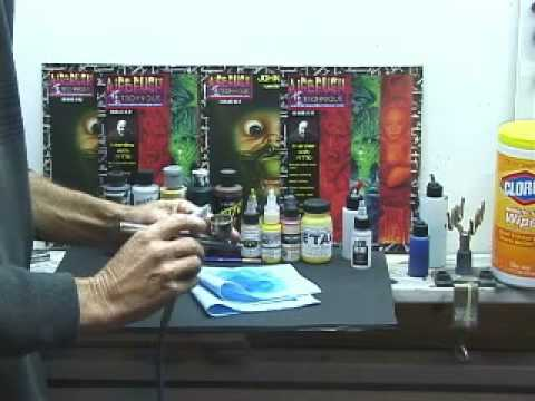 Airbrush Changing Colors