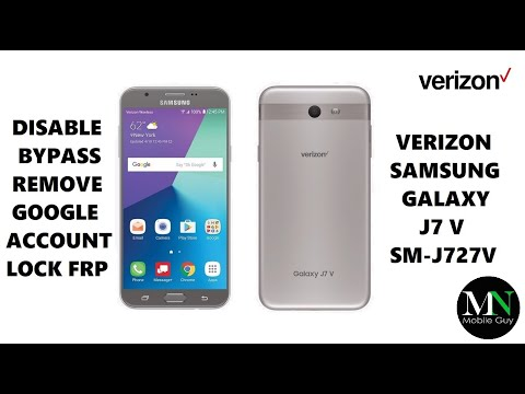 Disable Bypass Remove Google Account Lock FRP on Verizon Samsung Galaxy J7 V!