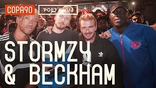 David Beckham and Stormzy Chill with Poet and Vuj! Poet and Vuj Present
