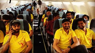 CSK team travelling to Mumbai for the 1st IPL Match | CSK vs MI 2018 | Chennai Super Kings | IPL2018