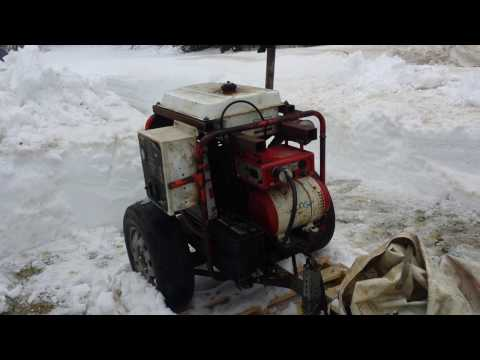 Home made 4500 watt 2 cylinder diesel generator