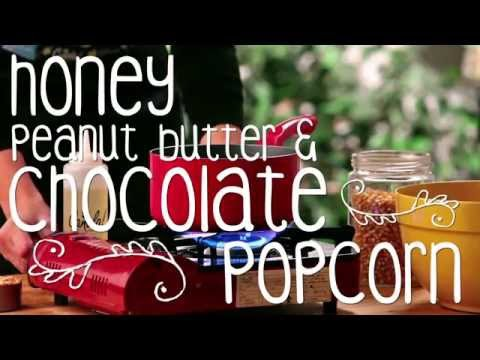 Honey, Peanut Butter & Chocolate Popcorn