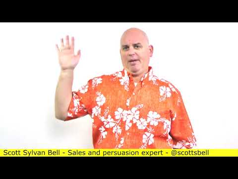 Problems closing a sale happen through the sales call - Scott Sylvan Bell