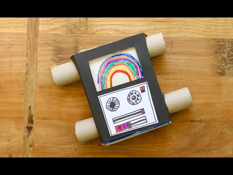 Easy craft: How to make a pasta box television