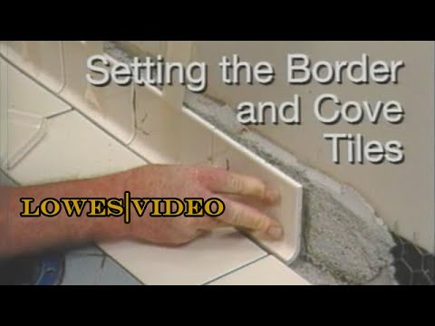 How to Lay a Tile Floor: Finishing Wall Edges