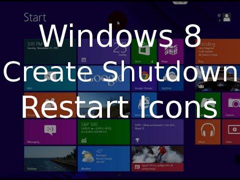 Windows 8 Tutorial - Create Shutdown and Restart Icons