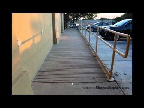 Wood Expansion Joints in Concrete Ramps Can Create Problems - A.D.A.