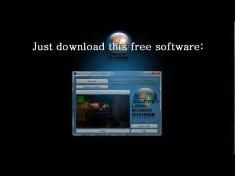How To Change Windows 7 Login Screen - Free Software!