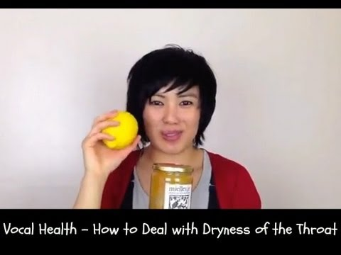 Singing tips -How to deal with dryness of the throat