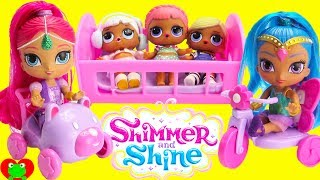 Shimmer and Shine Bike and Play With LOL Surprise Dolls