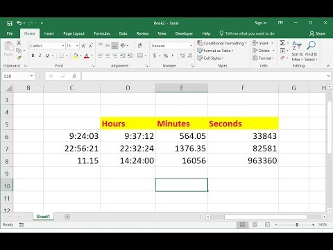 MS Excel: How to Convert Time into Hours, Minutes & Seconds